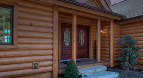 Log home custom designed near Fontana Wisconsin